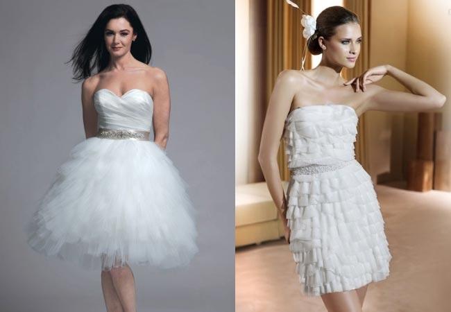 ff3bcce22b9c Ένα κοντό φόρεμα αντί για νυφικό είναι μια καλή επιλογή όχι μόνο για τις  πιο νέες γυναίκες που δεν τους αρέσουν τα «φορτωμένα» νυφικά αλλά και για  τις ...