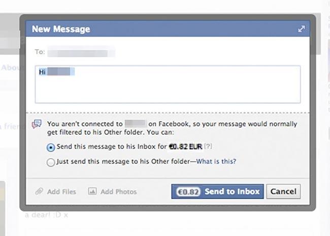 Το facebook χρεώνει 0.82 cents τα μηνύματα; thumbnail