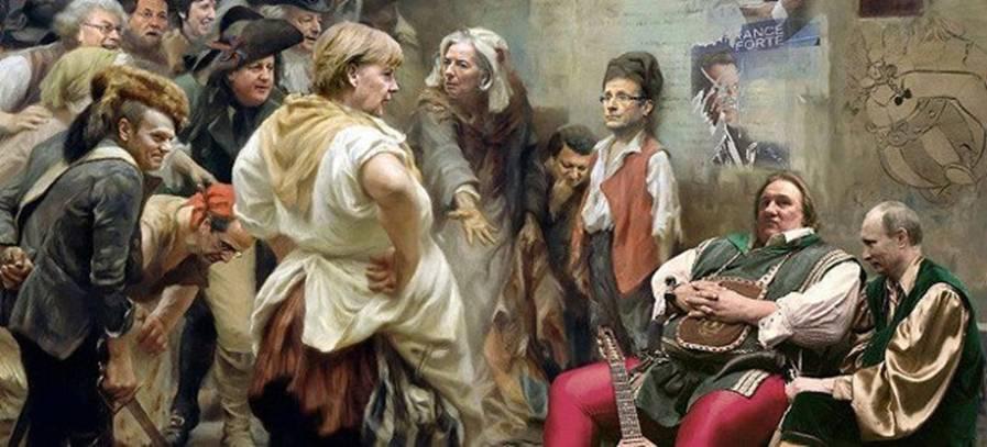 O πίνακας της Μέρκελ που κάνει το γύρο του κόσμου! thumbnail