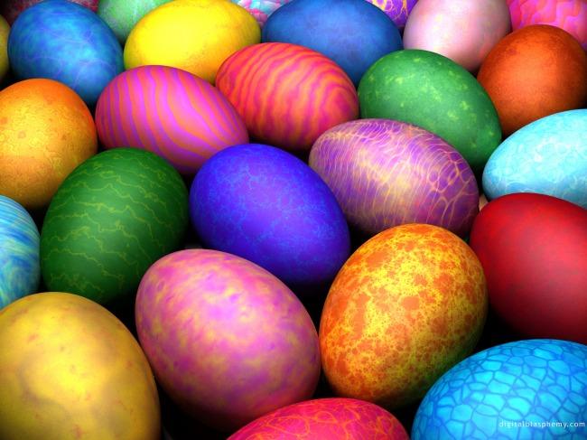 Πολύχρωμα πασχαλινά αβγά με ένα κρεμμύδι; thumbnail