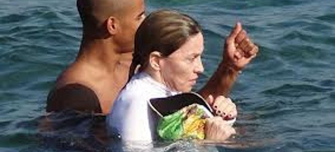Φωτό: Η Μαντόνα στην Ιθάκη! thumbnail