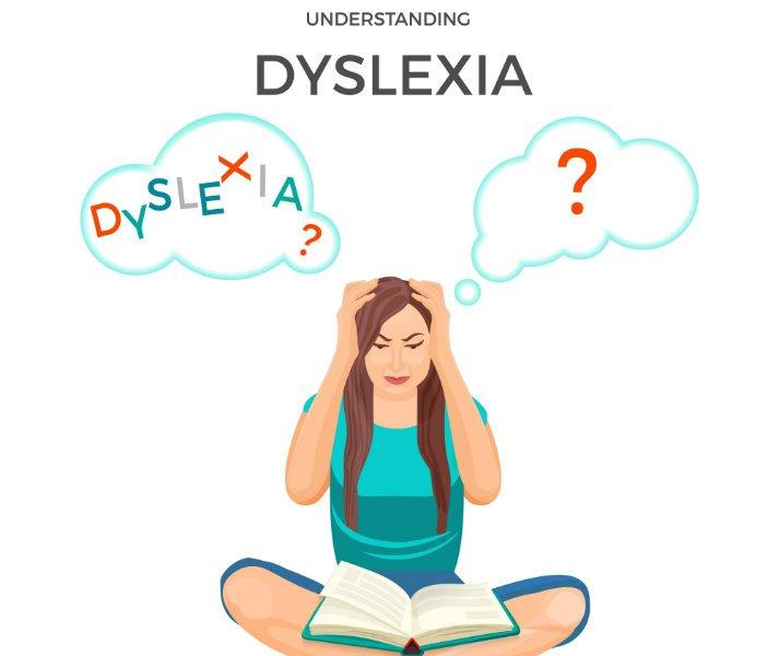 dyslexia teen vector