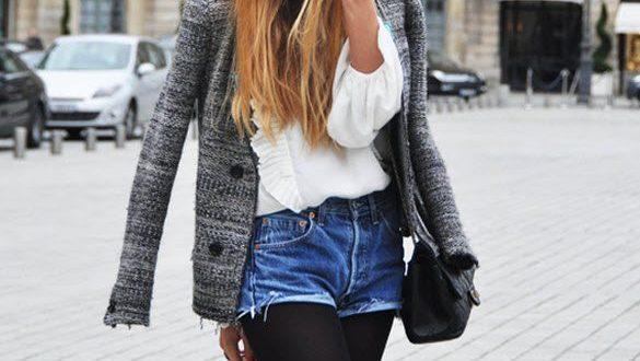 Πώς να φορέσετε ένα ντένιμ σορτς το χειμώνα