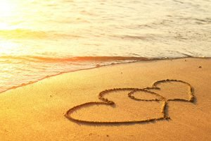 love summer sand