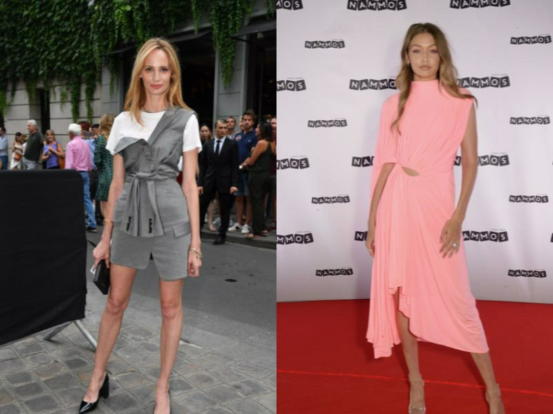 c39f63d7fb Ανακαλύψτε παρακάτω το εντυπωσιακό ροδακινί φόρεμα της Gigi Hadid καθώς και  την ολόλευκη κομψή εμφάνιση της Victoria Beckham. Δείτε τις 10 πιο  εντυπωσιακές ...