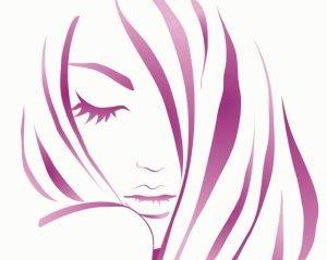 sad teen girl vector