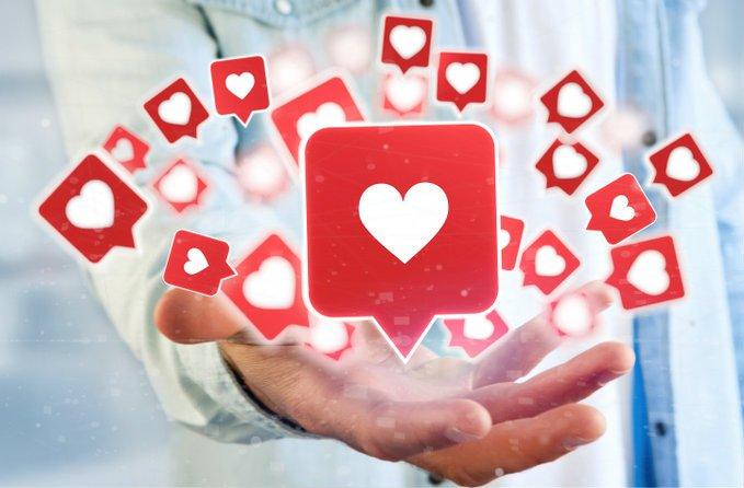 social media love likes