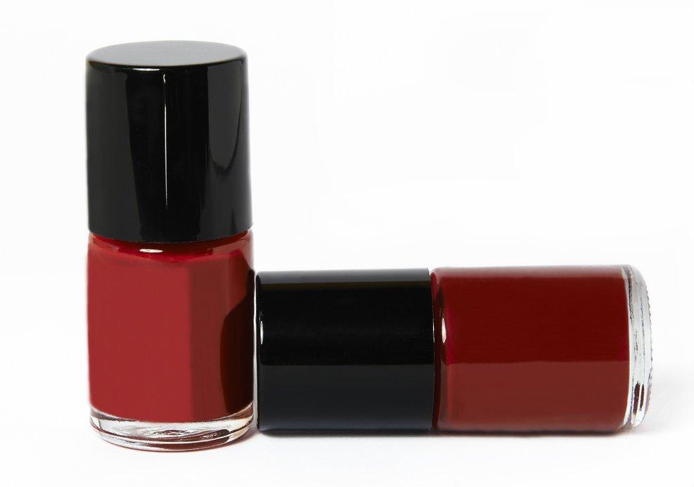 burgundy nail polish