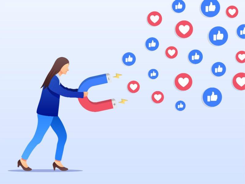 likes social media