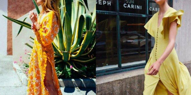 Πώς να φορέσετε το κίτρινο φόρεμα φέτος το καλοκαίρι;