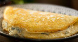 Ομελέτα-φούρνου-σε-στυλ-σουφλέ,-με-γκροργκοντζόλα-μπλε-τυρί
