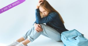 προβληματισμένη έφηβη