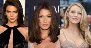 celebrities λαμπερά μαλλιά