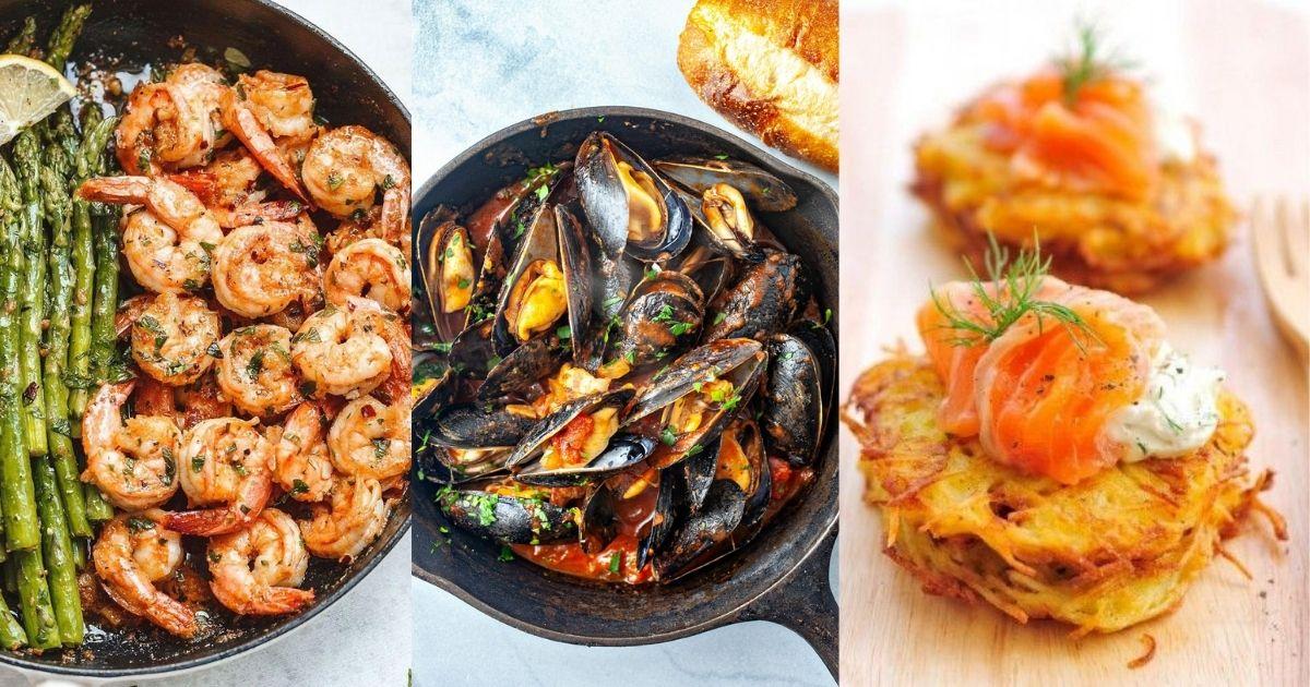 3 λαχταριστές συνταγές θαλασσινών με λιγότερες από 300 θερμίδες