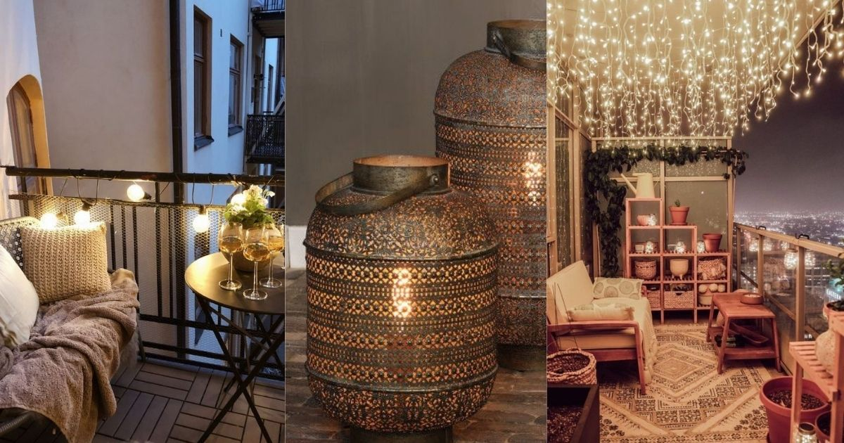 Οικονομικές ιδέες για να διακοσμήσεις με εντυπωσιακά φώτα το μπαλκόνι σου