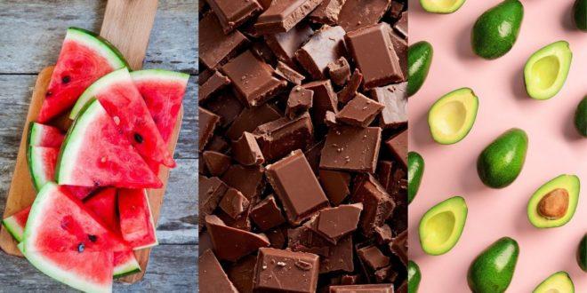 Αντιγηραντικές τροφές. Μαύρη σοκολάτα, καρπούζι, αβοκάντο