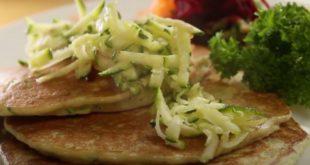 Αλμυρά pancakes με κολοκύθι