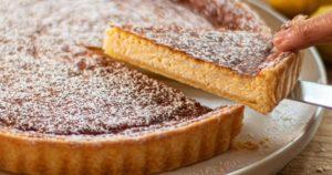 Εναλλακτική τάρτα λεμονιού με τυρί ρικότα