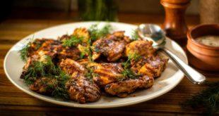 Κοτόπουλο στο γκριλ με σκόρδο γιαούρτι και άνηθο