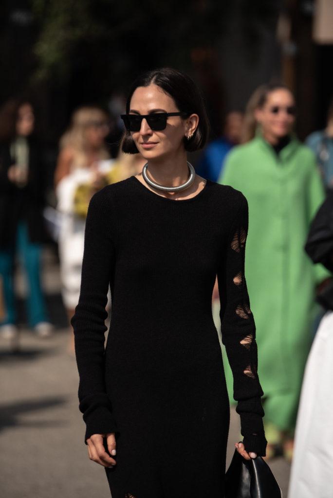 Street Style Fashion Show Milan